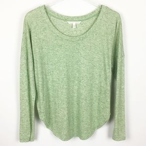 Victoria's Secret Linen Drop Sleeve Tee Green S